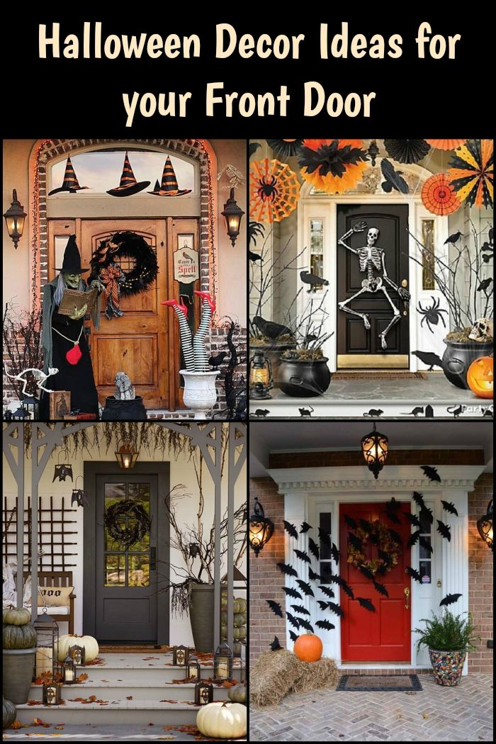 Get Inspiration From These Halloween Decor Ideas For Your Front Door Fun Halloween Decor Halloween Decorations Halloween Deco