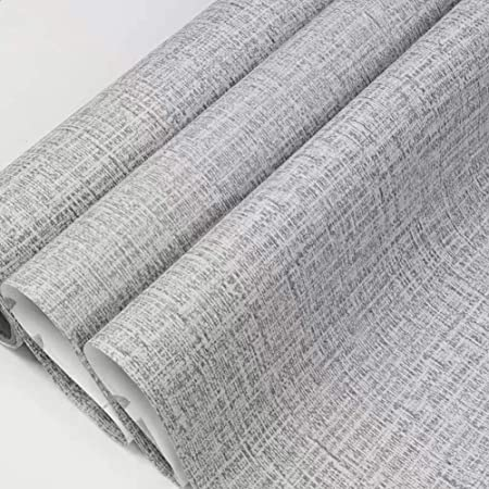 Amazon Com Yancorp Faux Grasscloth Peel Stick Wallpaper Fabric Self Adhesive Contact Paper Peel And Stick Wallpaper Peel And Stick Vinyl Grey Linen Wallpaper