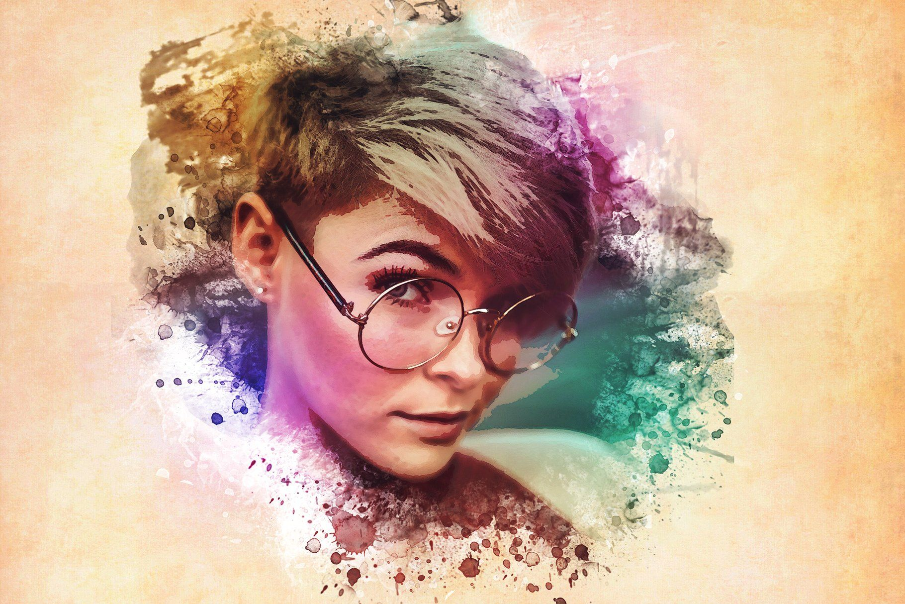 Watercolor Photoshop Psd Template Photoshop Watercolor Psd