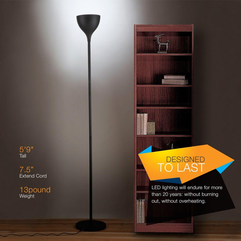 Brightech   SKY Elite LED Torchiere Floor Lamp   Dimmable Super Bright  20 Watt LED