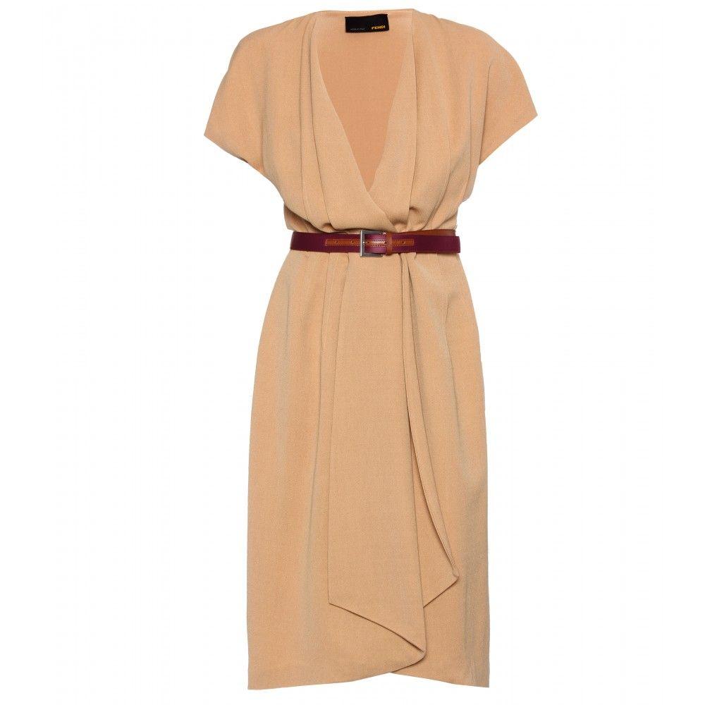 belted wrap dress. fendi.