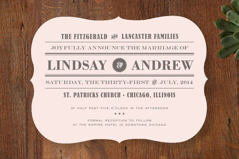 Wording For Invite Front Page News Wedding Invitations 11 2 13