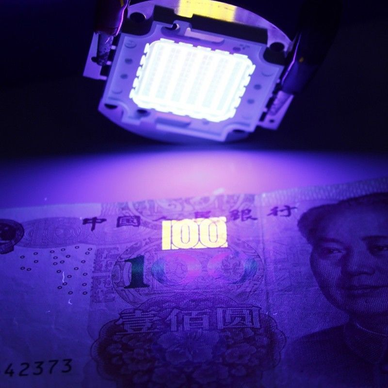 365 370nm 395 400nm Purple Cob Ultraviolet Uv Led Light Chip 20w 30w 50w 100w Unbranded Led Lights Led Beaded Lamps