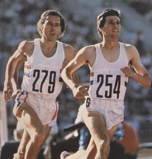 Steve Ovett Sebastian Coe 1980 Moscow Olympics Poster