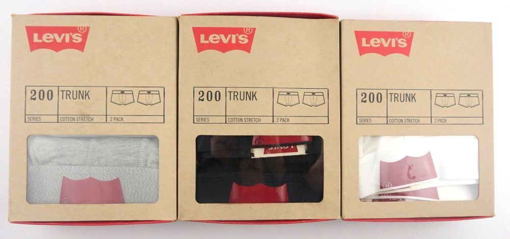Levi/'s Mens 200 Series Underwear Trunks New