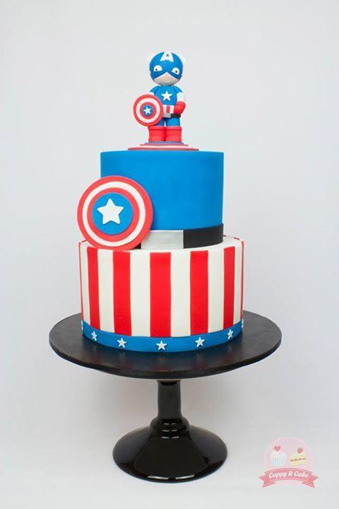 Captain America cake childs play Pinterest Captain america