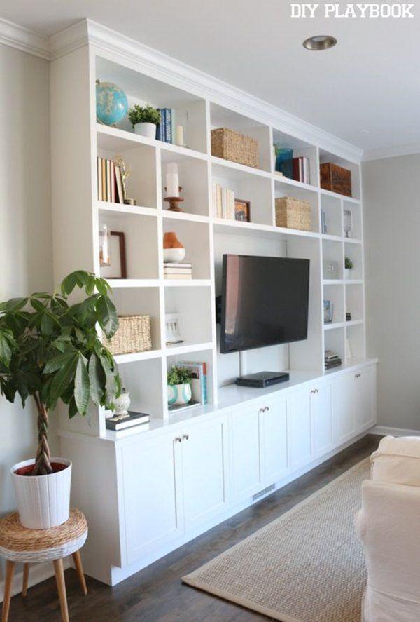 tv unit design ideen die ihr wohnzimmer stilvoll machen eingangst r pinterest. Black Bedroom Furniture Sets. Home Design Ideas