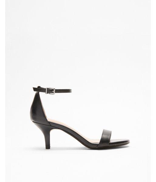 Simple Heeled Sandal Black Women S 7 5 Black Sandals Heels Kitten Heel Sandals Kitten Heels