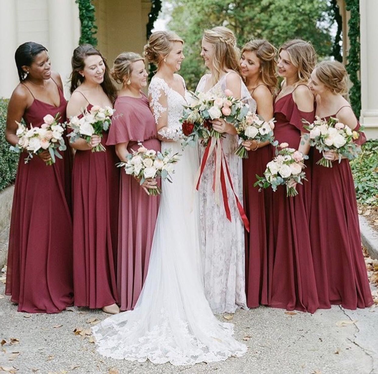 Jenny Yoo Bridesmaids, Various Luxe Chiffon Styles In