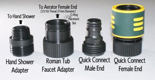 Add A Shower Roman Tub Faucet Adapter Kit Quick Connect