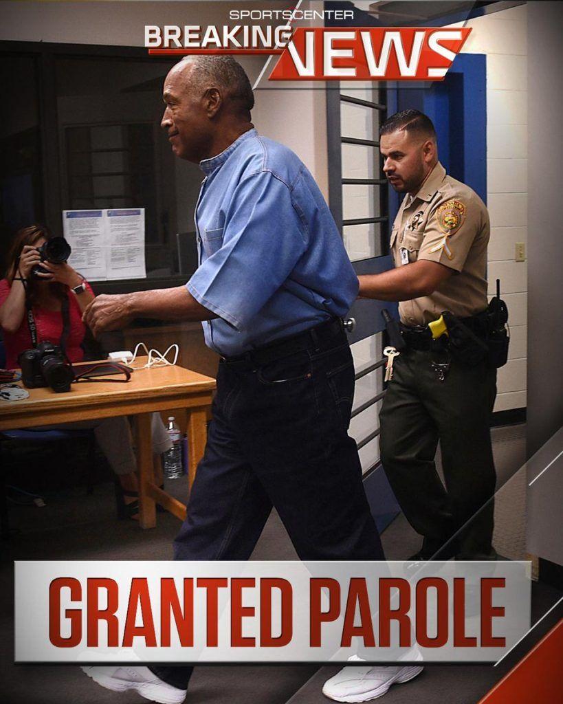 "Black #Cosmopolitan OJ Got Parole   #AmericanFootball, #AmericanFootballLeague, #NationalFootballLeague, #OJSimpson, #OJSimpsonMurderCase, #OJ, #Parole, #ParoleBoardOfCanada, #ProFootballHallOfFameInductees   Breaking: O.J. Simpson has been granted parole nine years into a 33-year sentence; could be released as early as Oct. 1st.     Read more on BlackCosmopolitan AKA ""BlkCosmo"" (Link in bio) Marketing by @zGenMedia  Models please inquire @Background_rated Toronto"