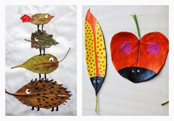 Decorar con hojas secas una idea sencilla HOJAS Pinterest