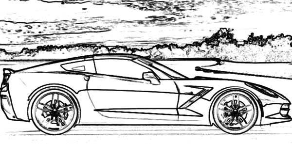 Corvette Cars, : Corvette Stringray C7 Cars Coloring Pages ...