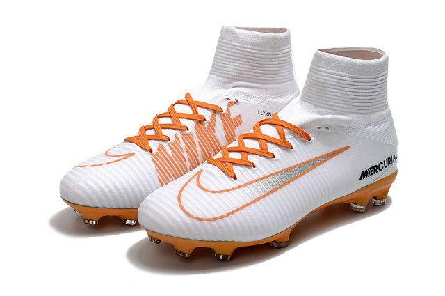 5d37c84c1baa Nike Mercurial Superfly V Fg White Orange Shoe