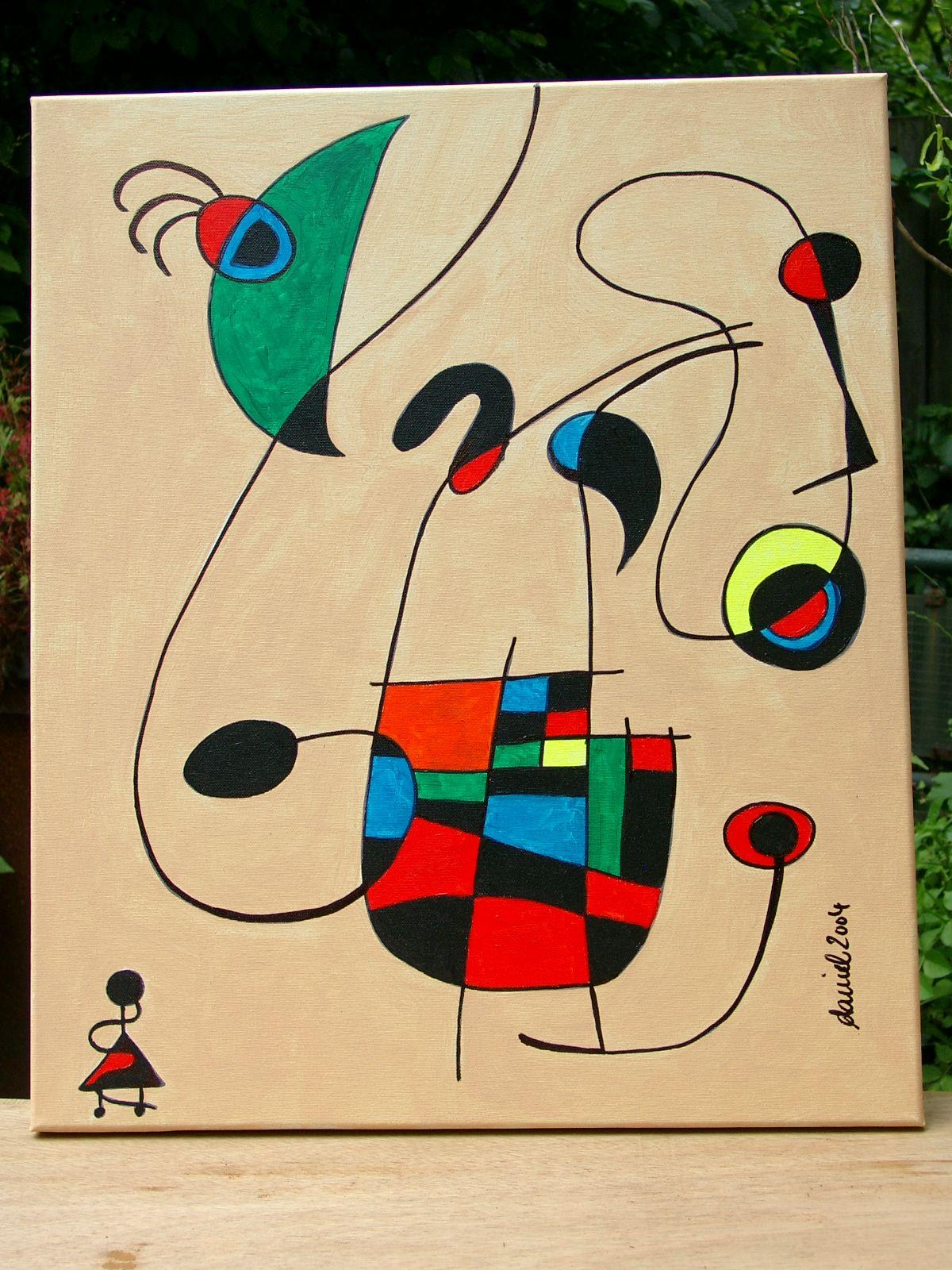 Homage an Miro | Peintures miro, Tableau peinture, Peinture