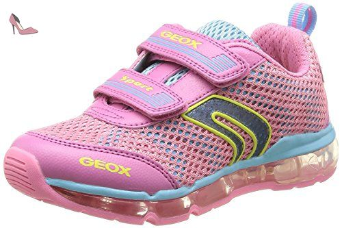 Geox J Android G A, Baskets mode fille Rose (PinkSky), 30