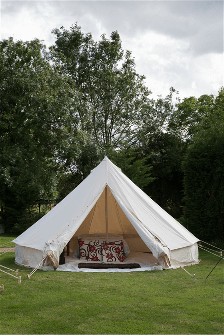 5 metre Canvas Bell Tent with chimney pegs poles. & Canvas Tent Shop | 5 metre Bushcraft Bell Tent with Chimney | Tent ...