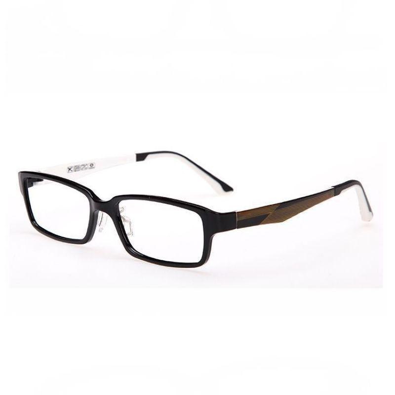 2013ef33b4 Lightweight Optical Prescription Glasses Rectangle Plastic-Steel Polished  Black Frame Without Lens