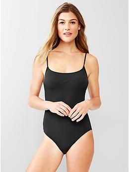 52955315 Low-back one-piece | Gap | Summer | One piece, Low back, Gap uk