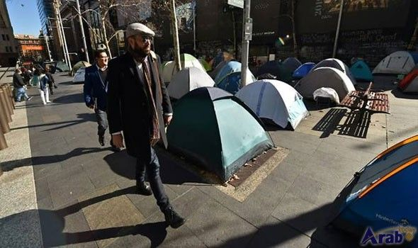 Homeless tent city springs up in central Sydney