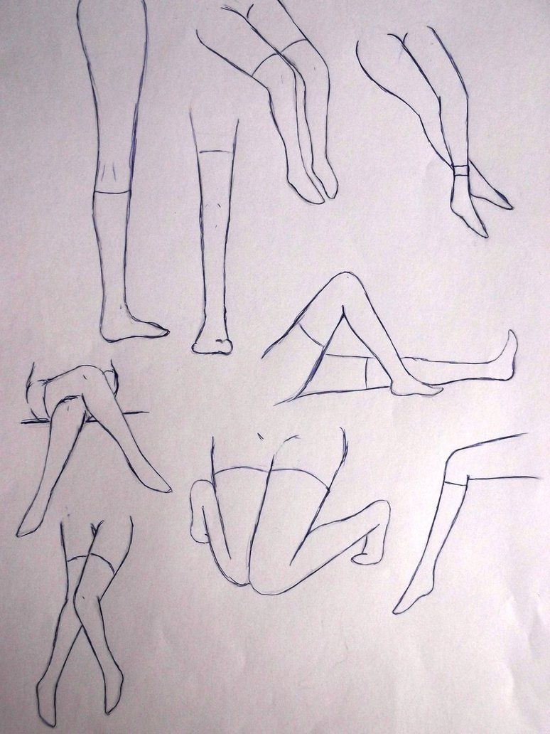 How To Draw Anime Legs And Feet  Google Search