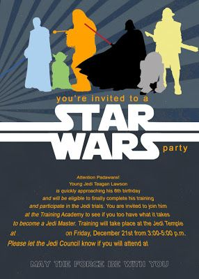 Mommy Lessons 101 Star Wars Birthday Party Ideas