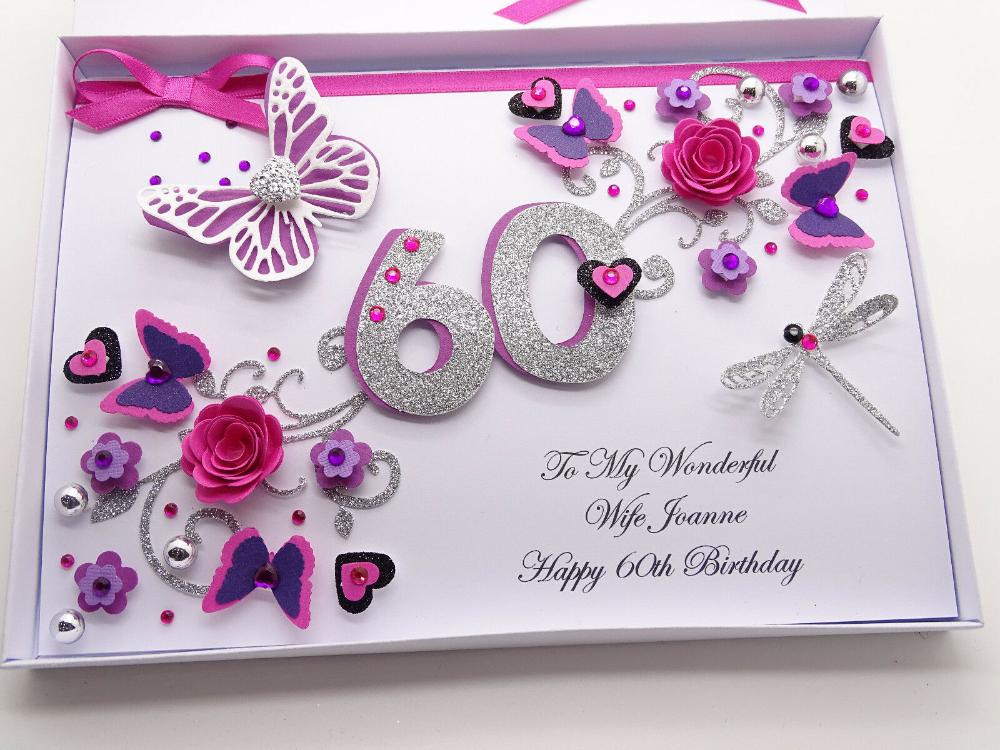 Personalised Handmade Mum Birthday Card 40th 50th 60th With Box Ebay In 2021 Happy Birthday Cards Handmade Handmade Birthday Cards Homemade Birthday Cards