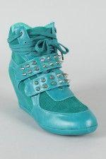 way too cute! high heel sneakers!!!