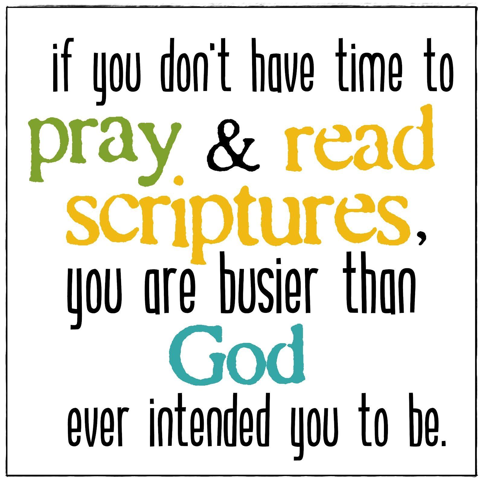 good reminder!