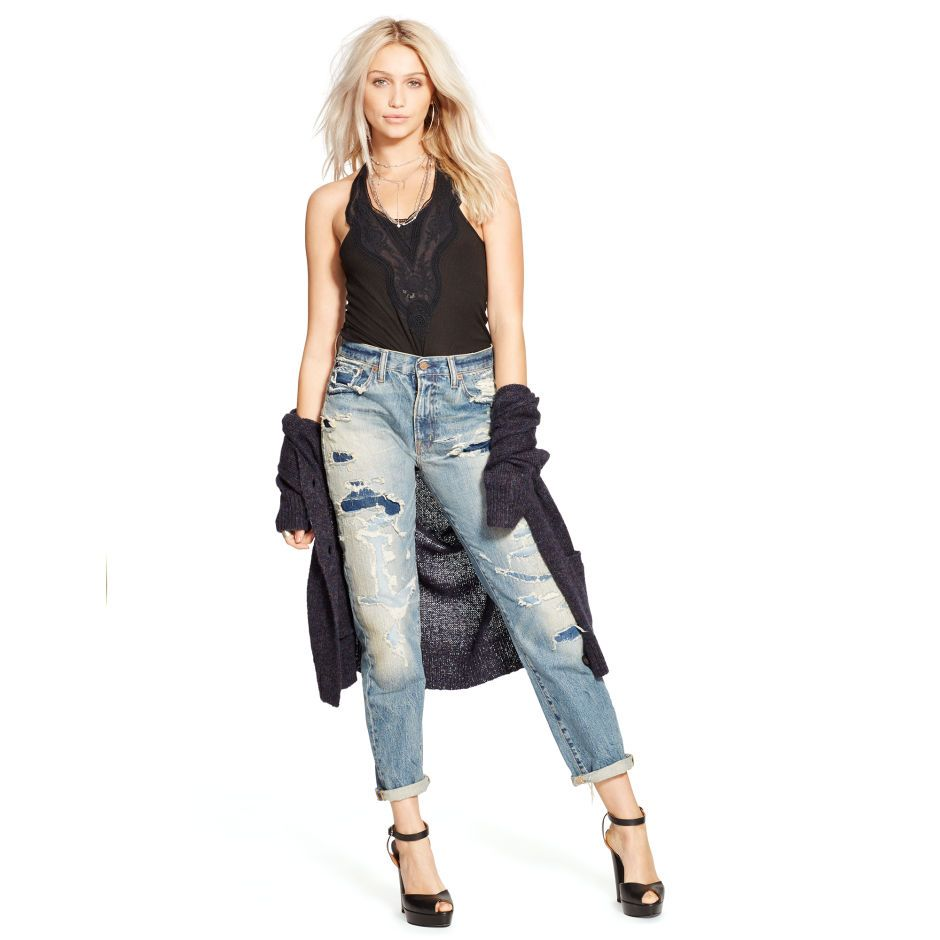 High-Rise Boyfriend Jean - Straight-Leg   Denim - RalphLauren.com