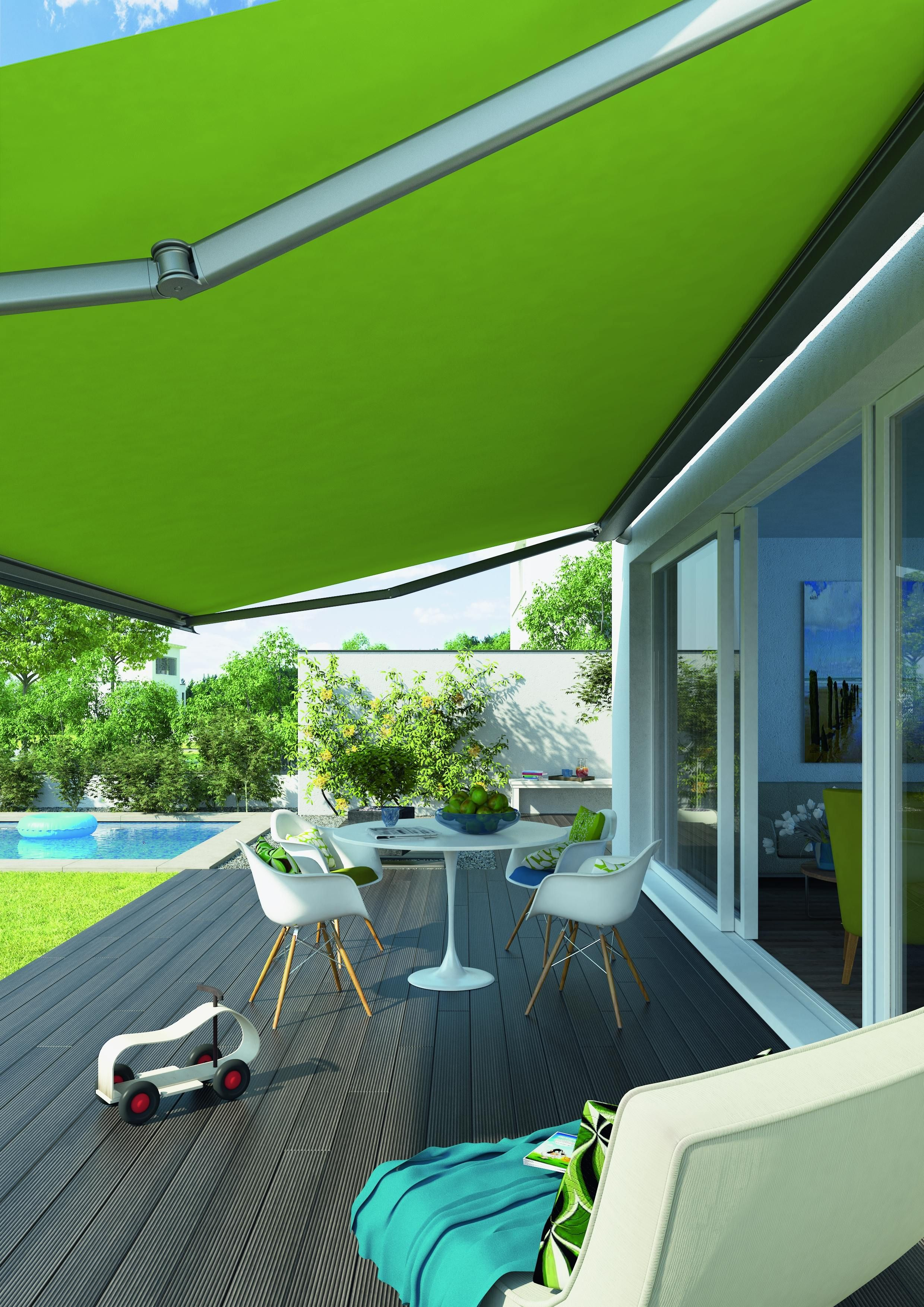 a cape enjoy roof pin deck motor fabric for your with mounted awning sunbrella retractable