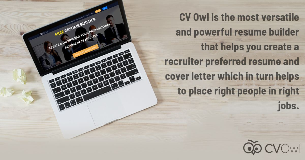 CV_Owl Owl is the most #versatile and powerful #ResumeBuilder that