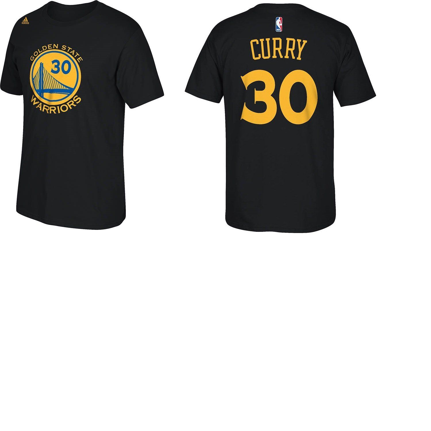 official photos c6293 caa92 Golden State Warriors Stephen Curry Adidas Black Player T ...