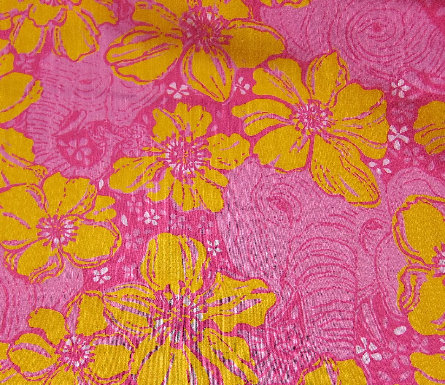 Lilly Pulitzer Fabric Authentic New Lilly Pulitzer Fabric Ten Ton Bouquet 18 X 18 Inches