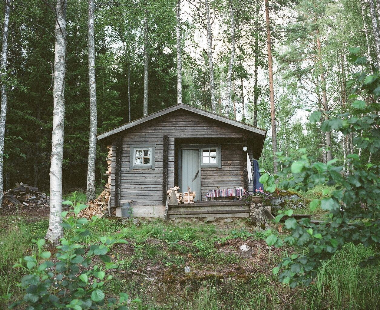 Log cabin in the woods by a lake - Sauna In Pyhajarvi Finland Photograph By Sean Smith Via Cabin Porn