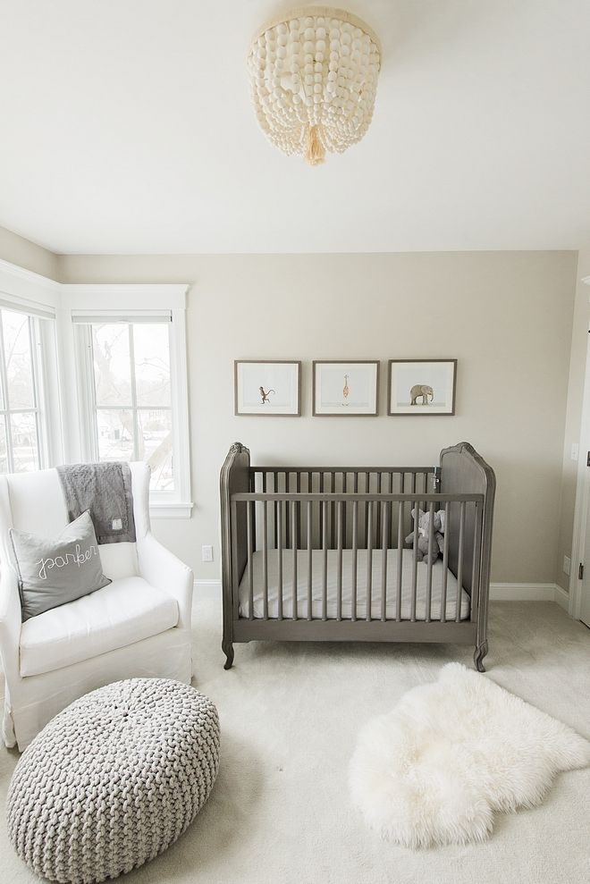 Neutral Gender Nursey Bedroom Paint Color Sea Salt By Benjamin
