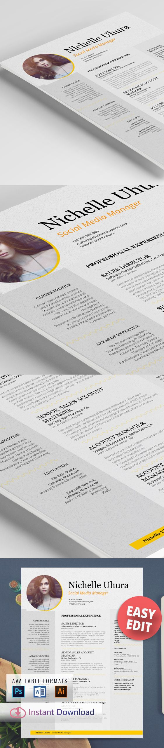 A jazzed up resume design I actually