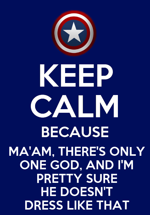 Keep calm - Captain America - Avengers