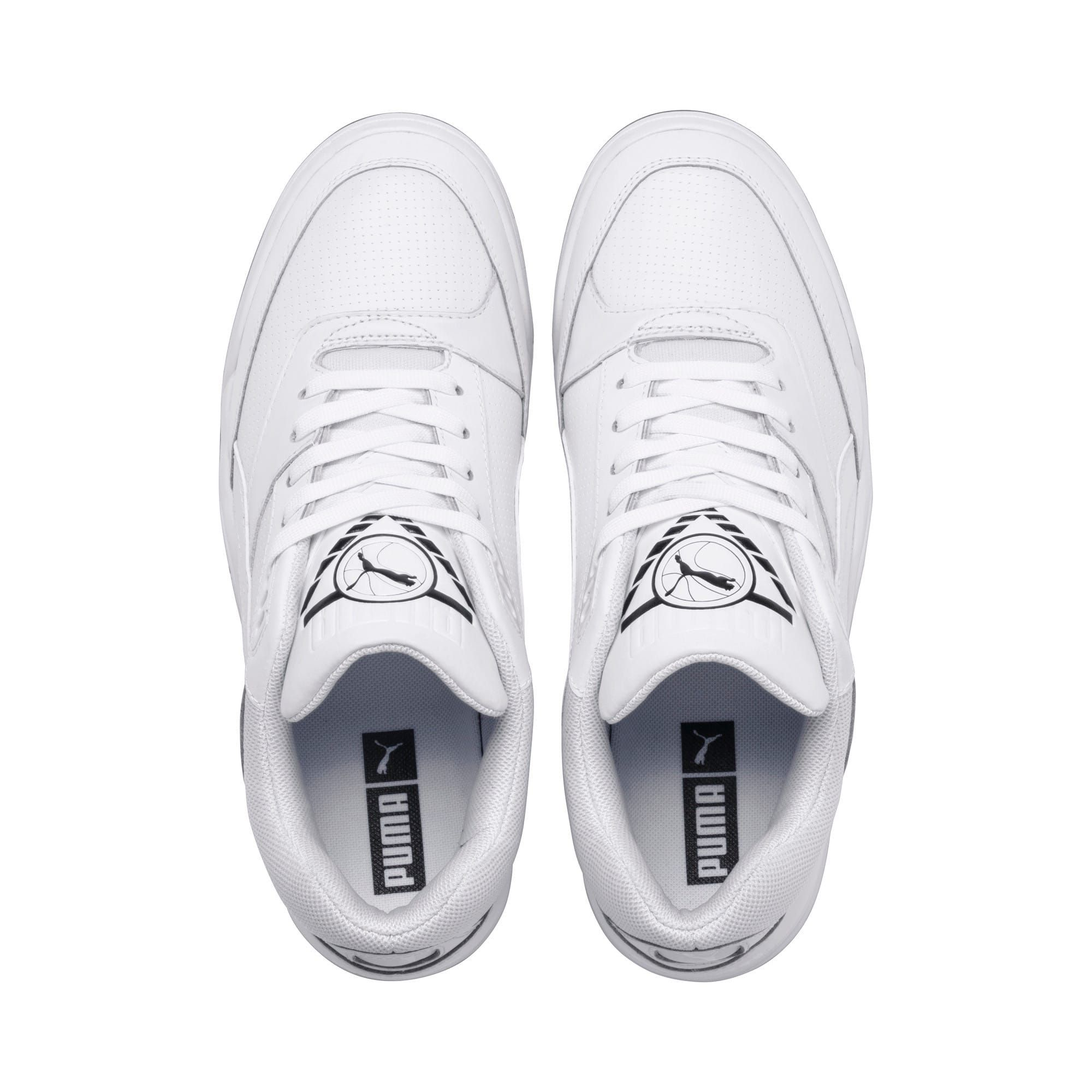 PUMA Palace Guard Mens Basketball Trainers in WhiteGum size 105