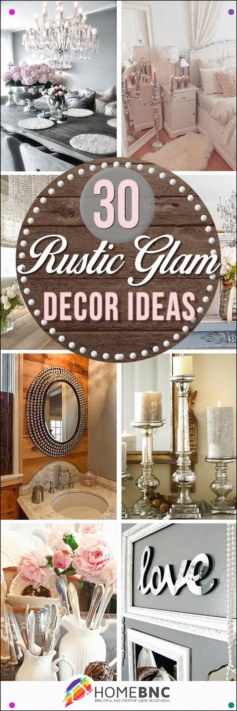 Photo of 30 Best Rustic Glam Decoration Ideas And Designs For 2019 Ev…