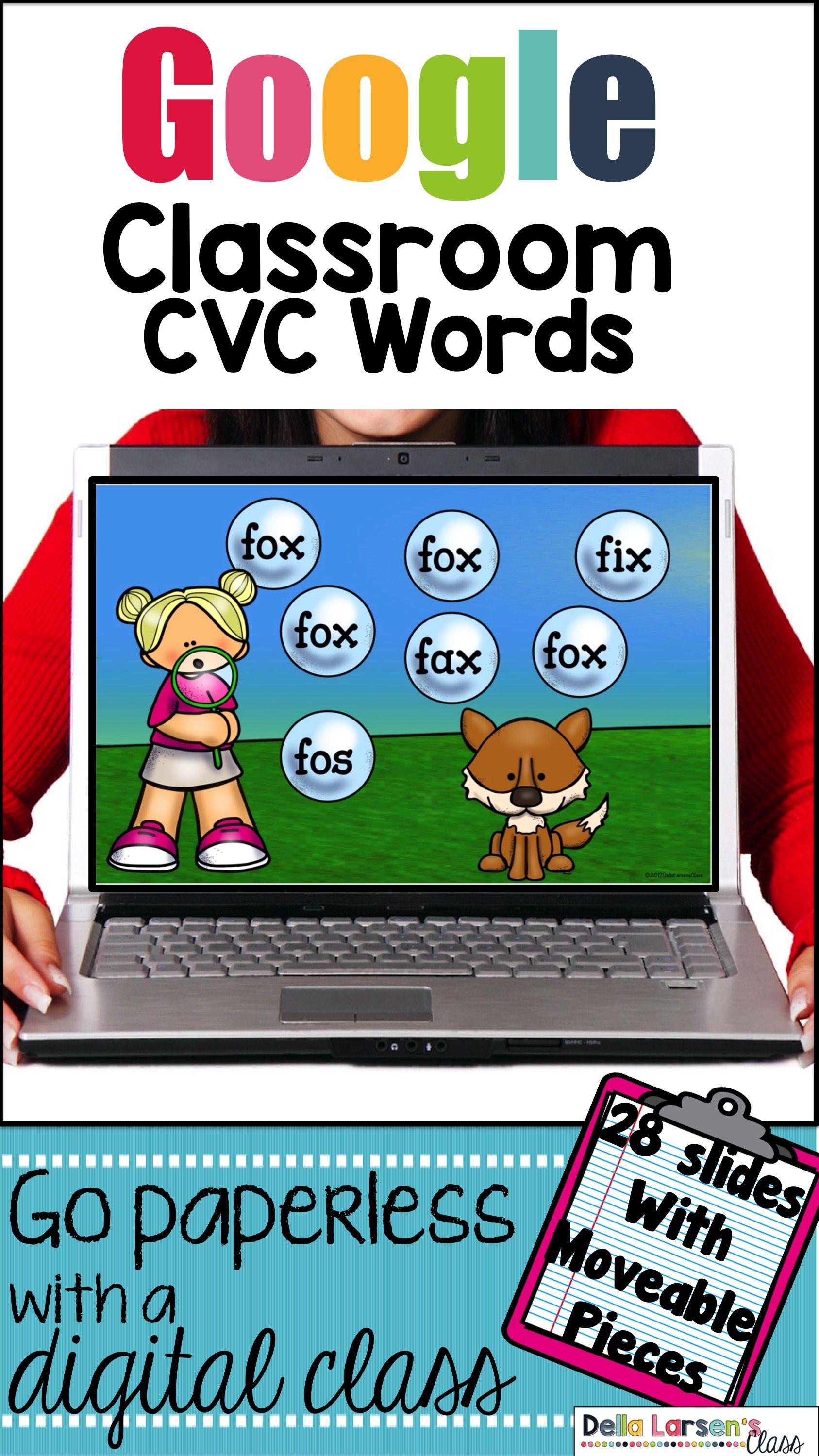 Classroom Reading Cvc Words Bubble Fun