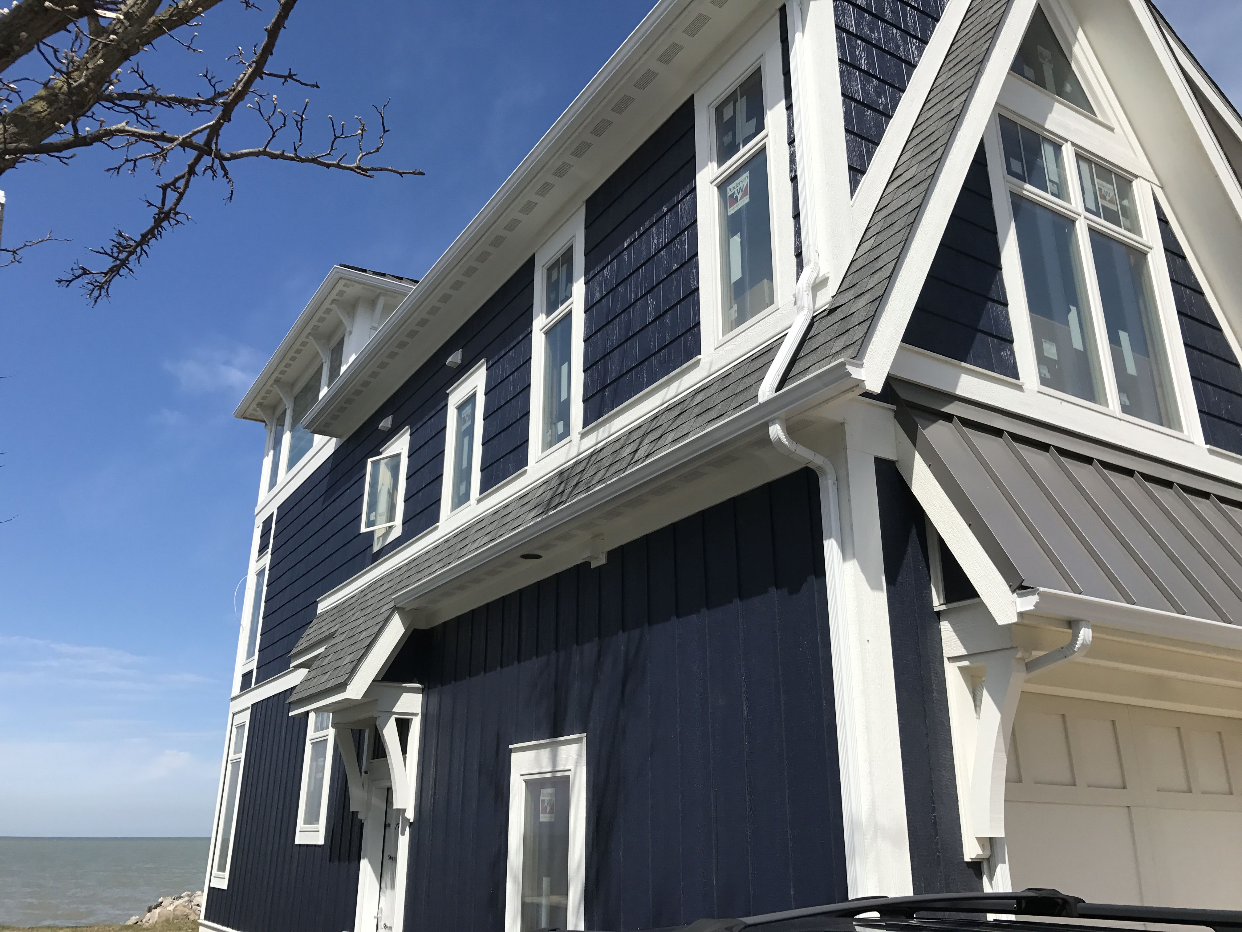 a-frame addition remodel part 2. lp smartboard siding-- board and