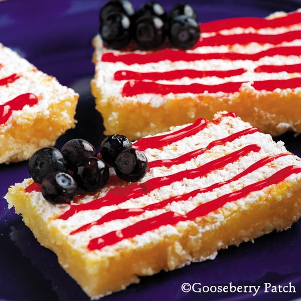 Gooseberry Patch Recipes: Fourth of July Lemon Bars-