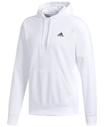 half off 523e6 c5895 adidas Men s Team Issue Fleece Hoodie - White L