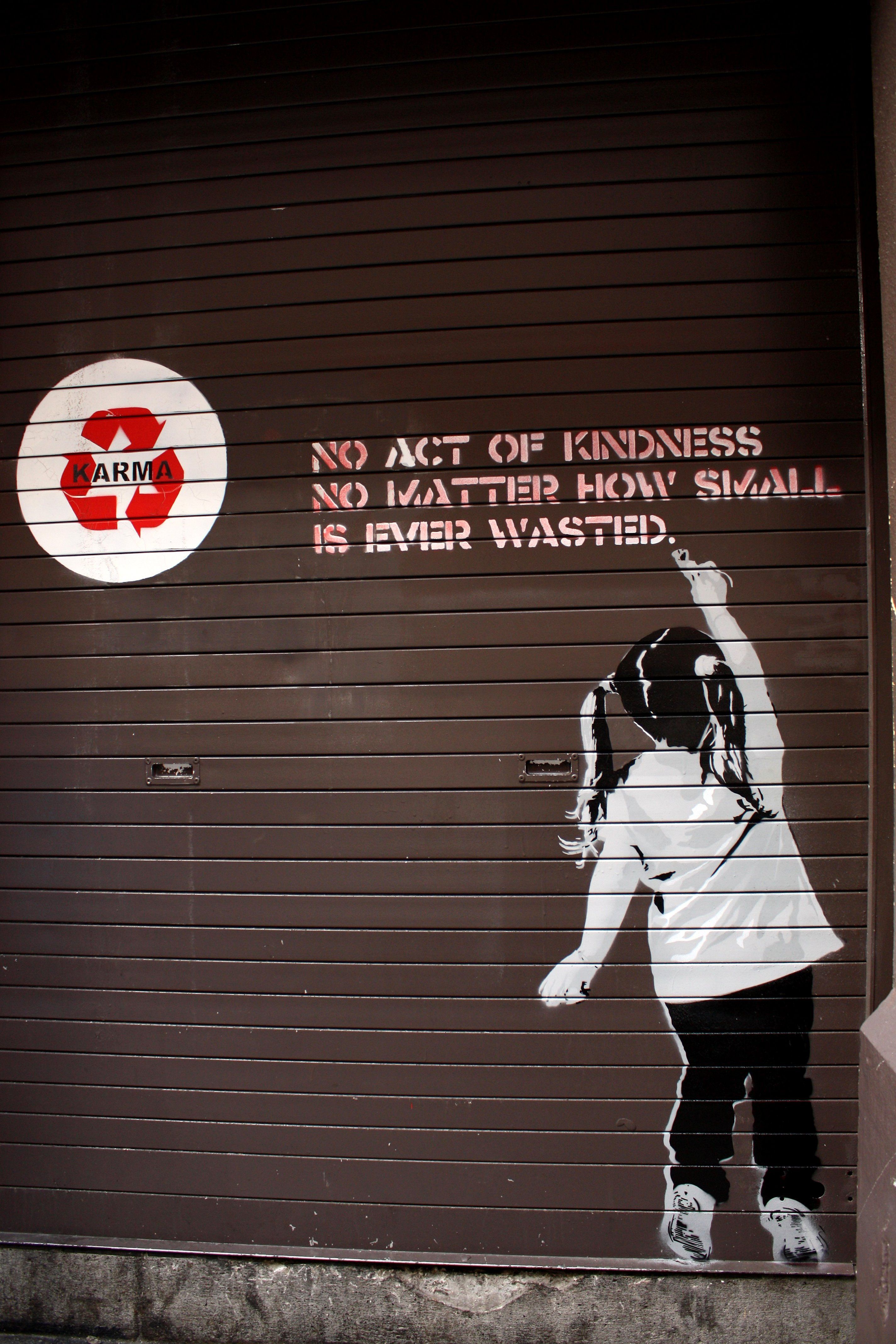 Grafitti art quote - No Act Of Kindness No Matter How Small Is Ever Wasted Quotes