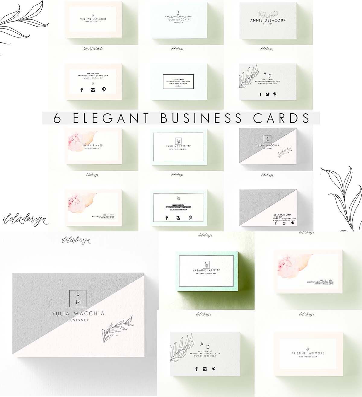 Set Of Minimalistic Editable Business Card Template In Psd - Editable business card templates free