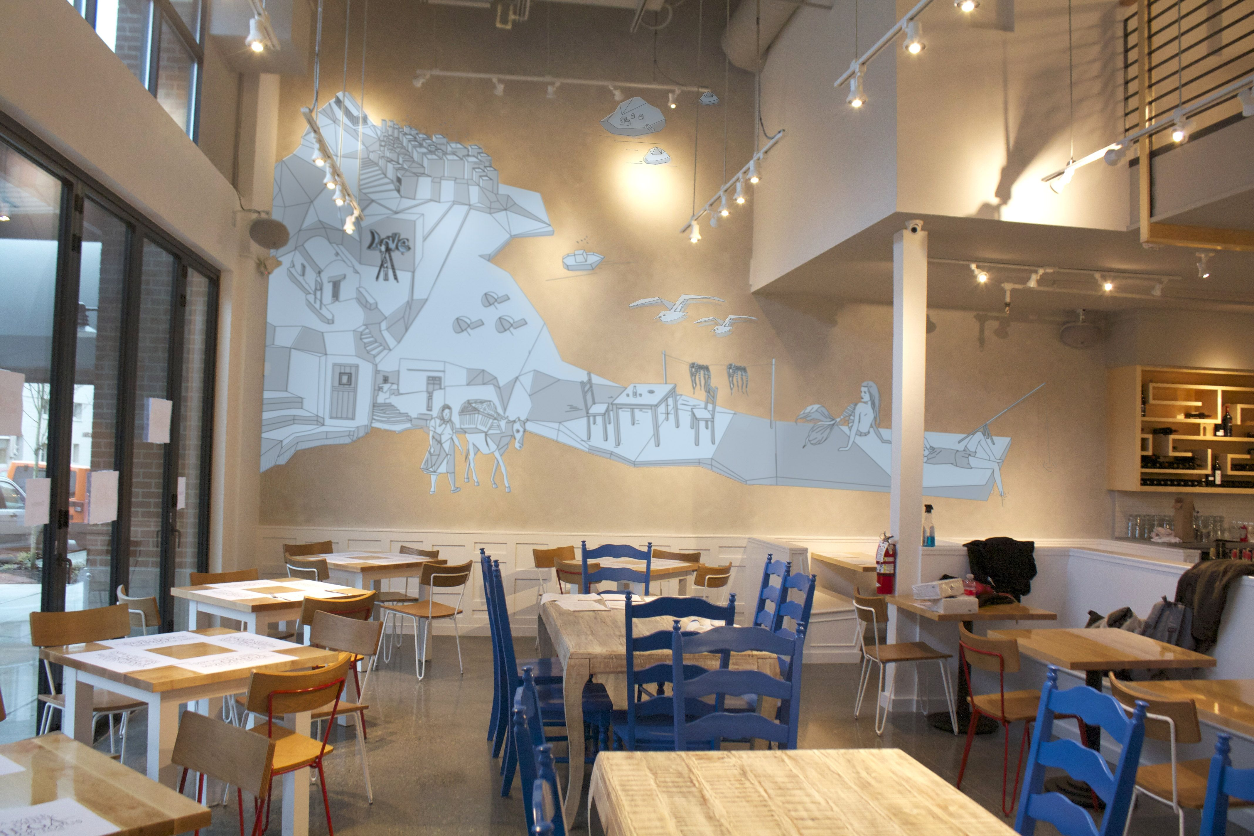 Omega ouzeri greek restaurant in seattle interior design