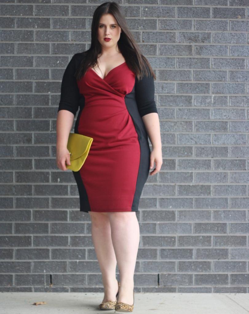 Ashley in the Red Claret Powerfit Dress by Scarlett & Jo for Evans.