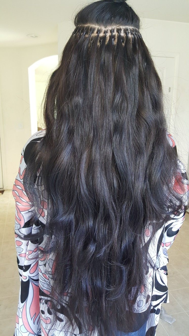 Brazilian knot extensions. No bonds, no gkue, no keratin ...
