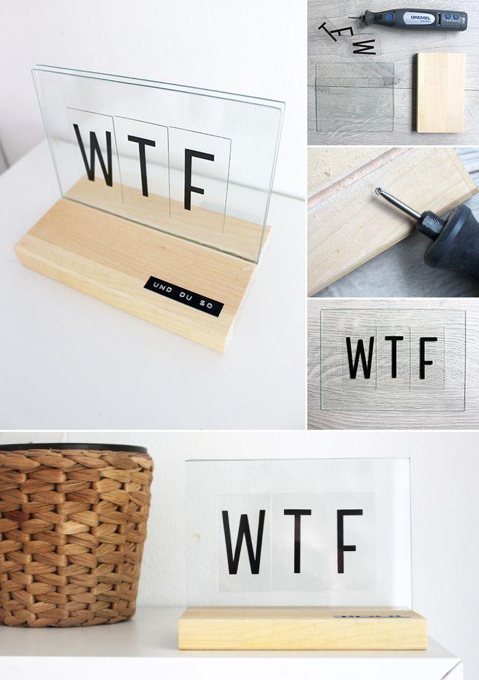 Do it yourself: Deko mit Lightboxbuchstaben basteln | Dekoration ...
